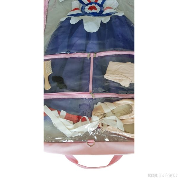 costume bag with zipper pockets