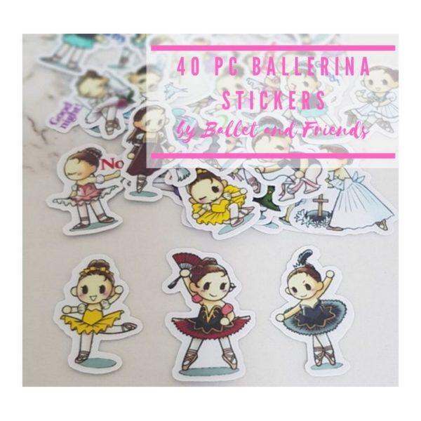 40pc ballet stickers